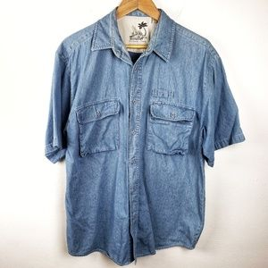 Vintage Bugle Boy | Denim Casual Button Down L